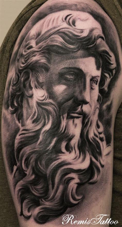 tattoos black n grey religious statues tattoo black and grey by remistattoo on