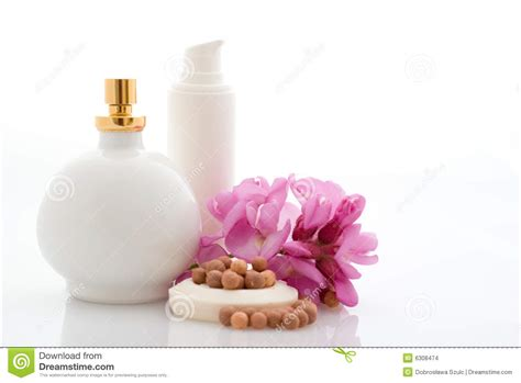 And The Spa Lipstick Powder N Paint by Spa Cosmetics With Flowers Stock Images Image 6308474