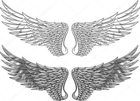 angel tattoo spread wings vleugels tatoeage stockvector 169 dagadu 7683861