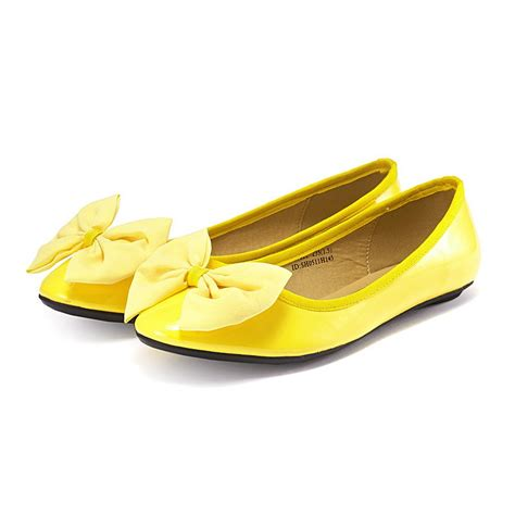 flat yellow shoes vancl fashionable flat shoes yellow sku