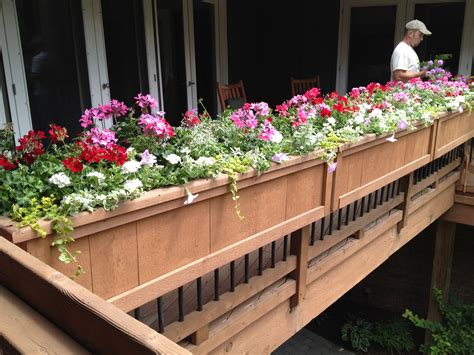 banister planters deck railing planter boxes home ideas