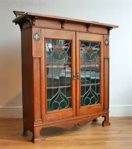 arts and crafts bookshelves an arts crafts inlaid oak bookcase antiques atlas