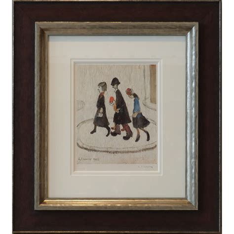 fine art floor ls the family by l s lowry signed limited edition print