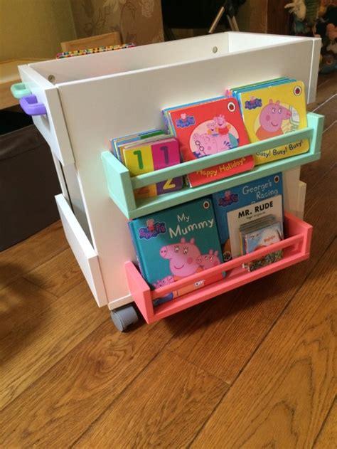 ikea toy storage hacks bekvam meets oltedal for mobile kids book storage ikea