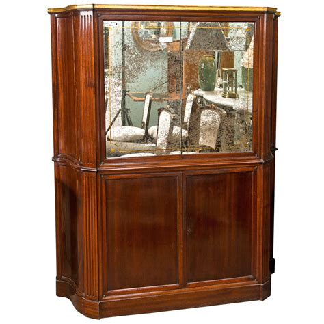 deco style mahogany bar cabinet for sale at 1stdibs