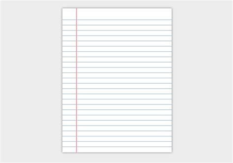 Free Notebook Paper Vector Download Free Vector Art Stock Graphics Images Notebook Paper
