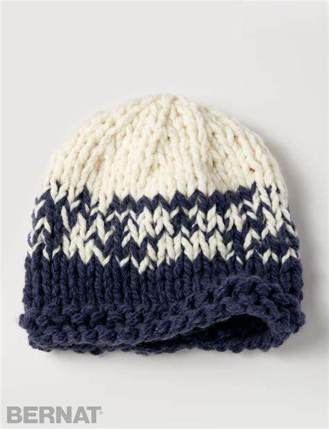 knitting pattern bulky yarn hat bernat bulky gradient hat knit pattern yarnspirations