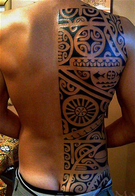 polynesian back tattoo tahiti