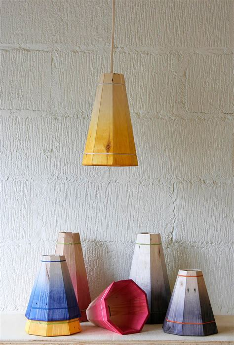 Handmade Light Shade - pendant l shade handmade in recycled pallet wood small