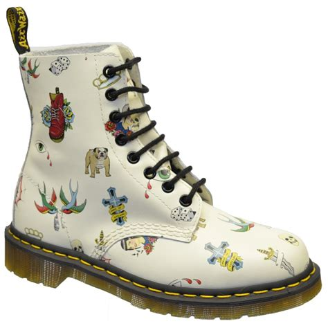 tattoo pattern doc martens dr martens pascal skins tattoo womens boots all sizes in