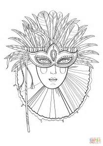 desenho de bela dama em m 225 scara de carnaval para colorir