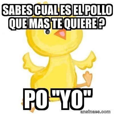 Sorry Po Meme - sabes cual es el pollo que mas te quiere frases