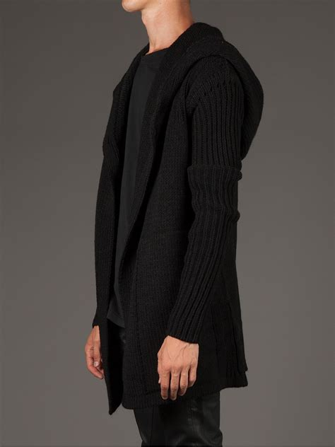 Jaket Sweater Hoodie Marshmello Black 1 lyst rick owens hooded cardigan in black for