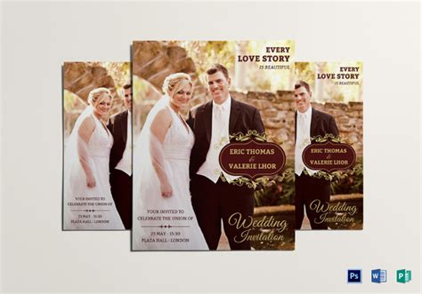 Eye Catching Flyer Templates Free 38 psd wedding templates free psd format