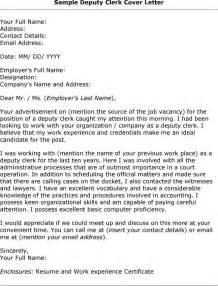 cover letter for clerk position application letter for a clerk