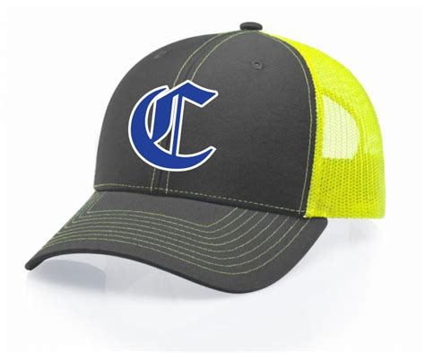 Topi Trucker Yellow Claws Logo churchill trucker hat charcoal neon yellow