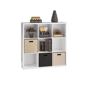 closetmaid white laminate storage cubes shop closetmaid 9 compartment white laminate storage cubes