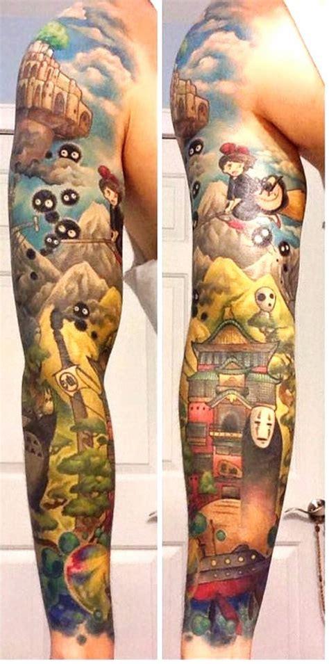 ce fan s est fait tatouer toute l oeuvre de miyazaki sur