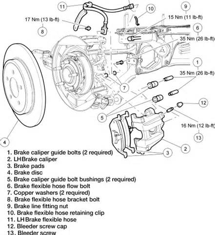 Brake System Exploded View 2010 Jeep Wrangler Unlimited Sport 2wd 3 8l Sfi Ohv 6cyl