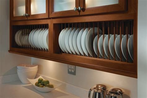 kitchen cabinet plate organizers homecrest plate rack cabinet kitchen cabinetry other