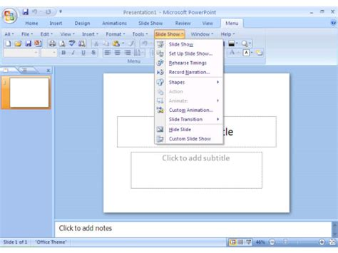 download layout powerpoint 2007 classic menu for powerpoint 2007 free download and