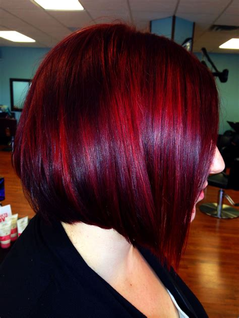 bob hairstyles in red red hair and sleek inverted bob hair by dominae