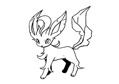 pokemon coloring pages of eevee evolutions leafeon pokemon coloring pages