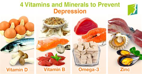 list of minerals foods and vitamins that inhibit 5ar 4 vitamins and minerals to prevent depression