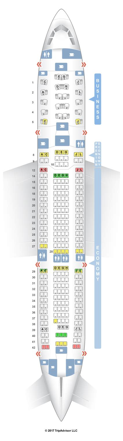 voli interni america seatguru seat map alitalia airbus a330 200 332 three class