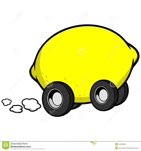 lemon car lemon car stock vector image 54358789