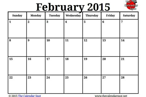 printable weekly calendar 2015 nz image for printable blank pdf february 2015 calendar the