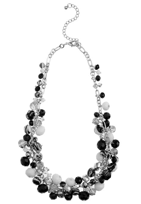 cluster bead necklace glass bead cluster necklace necklaces cato fashions