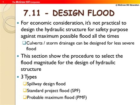 design flood meaning river engineering flood design