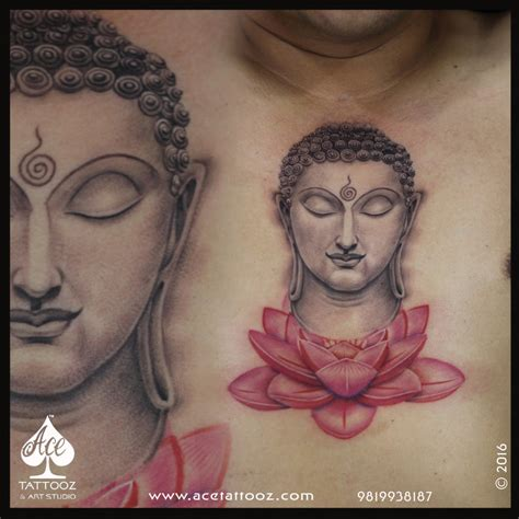buddha and lotus buddha on lotus flower ace tattooz studio