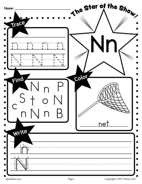 letter n worksheets free letter n worksheet tracing coloring writing more 1374