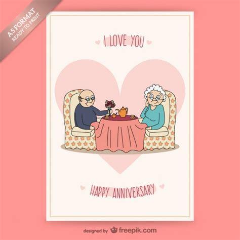imagenes de aniversario para la pareja tarjeta de aniversario con pareja de ancianos descargar