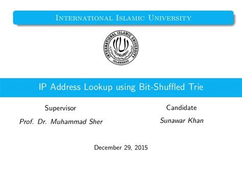 Ips Address Lookup Ip Address Lookup Bit Shuffle Trie