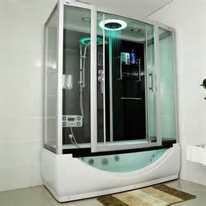 wanne mit dusche duschtempel whirlpool quot limnos quot 170cm x 90cm duschen dusche