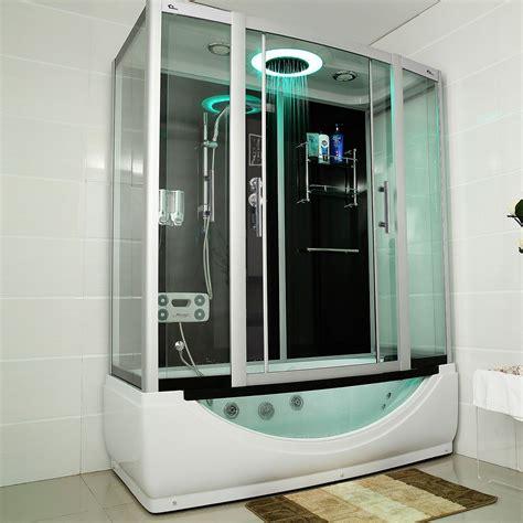 badewanne mit integrierter dusche duschtempel whirlpool quot limnos quot 170cm x 90cm duschen dusche