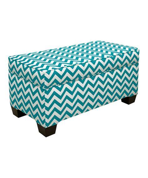 turquoise storage bench turquoise zigzag storage bench