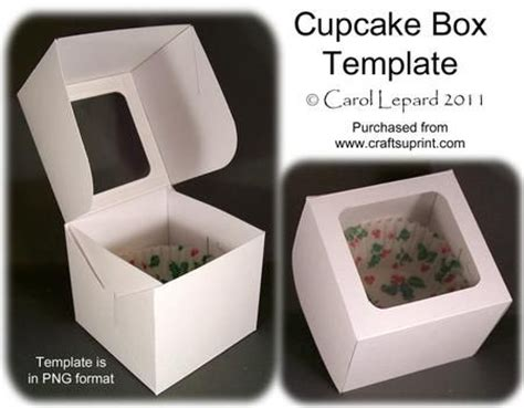 cupcake box template 25 best ideas about cupcake boxes on plastic