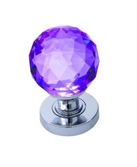 frelan jh5260 purple glass door knobs faceted