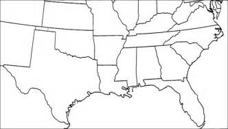 blank map of southeastern united states blank map southeast united states