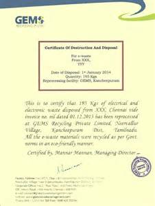 certificate of data template certificates and other documents