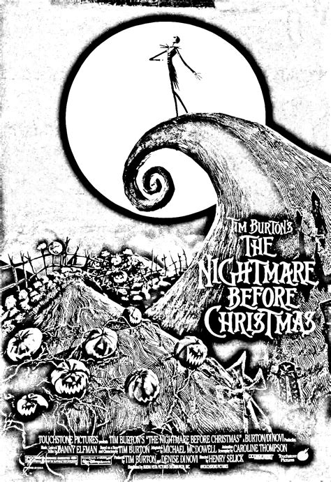 Movies Coloring Pages For Adults Coloring Movie L Tim Burton S Nightmare Before Coloring Pages