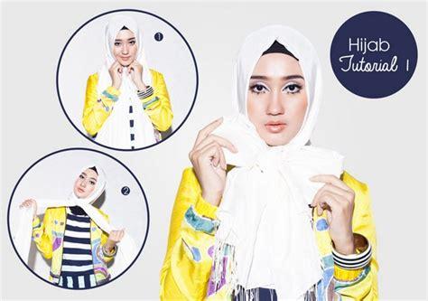 tutorial jilbab pashmina bahan licin aneka tutorial cara memakai jilbab modern bahan satin