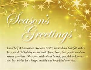 happy holidays messages business happy holidays from lanterman plus regional center