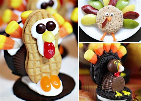 adorable turkey treats to make for kids on thanksgiving