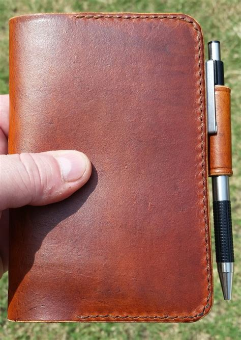 Handmade Leather Notebook - handmade leather notebook cover everyday carry is edc