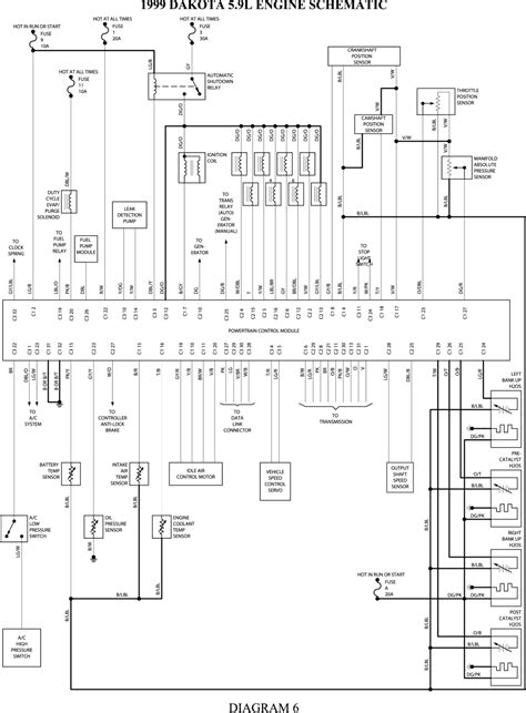 wiring diagram for 2000 dodge ram 1500 2001 pcm dakota